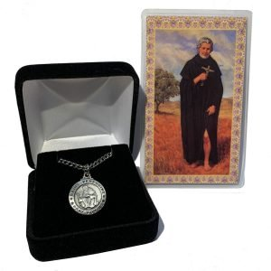 Pewter St Peregrine Medal With Prayer Card