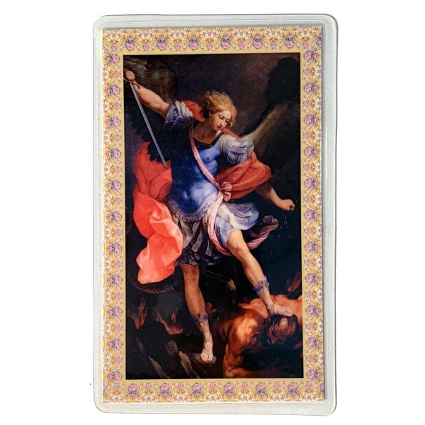 St Michael Holy Card