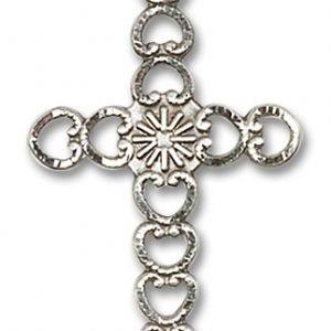Hearts with Sunburst Cross