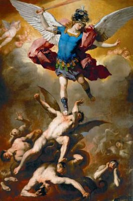 Archangel Michael and Fallen angels, Luca Giordano, 1666