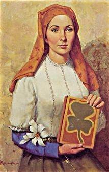 St. Dymphna with book