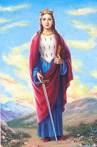 St. Dymphna with sword
