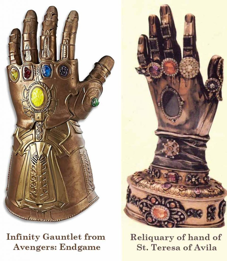 Infinity Gauntlet and St Teresa Hand