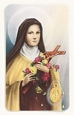 Holy Card Featuring St Therese
