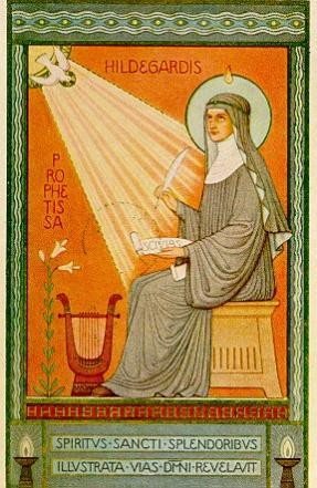ST. Hildegard with scroll