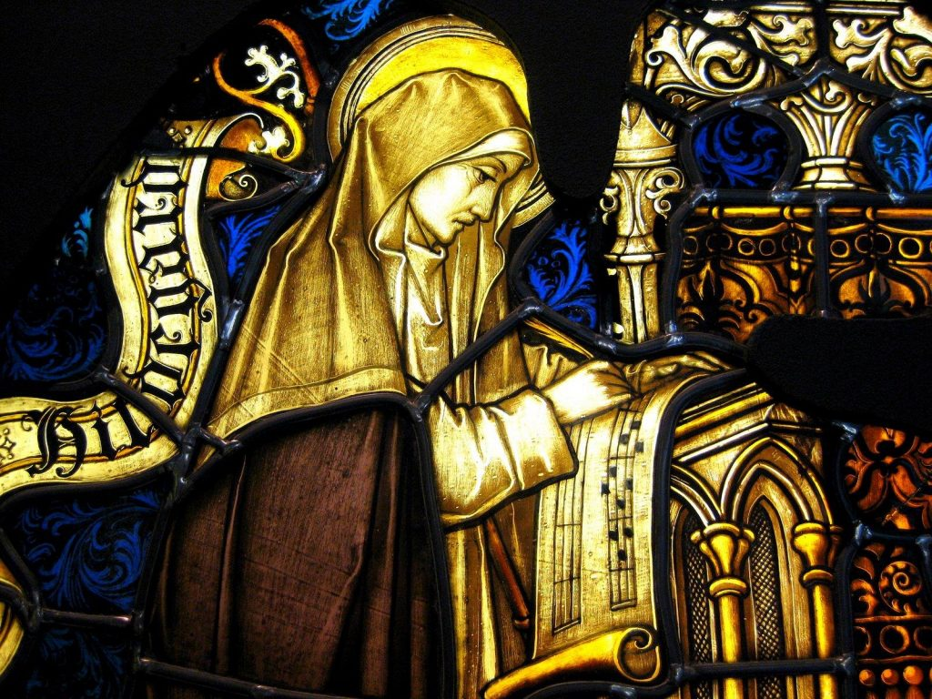 Hildegard von Bingen stained Glass