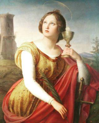 Saint Barbara Painting