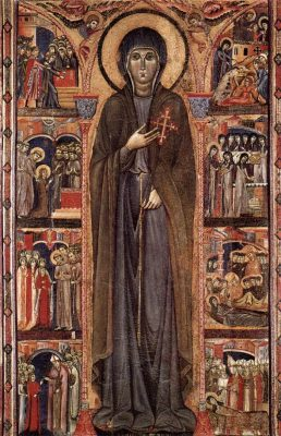 Tapestry featuring St. Clare