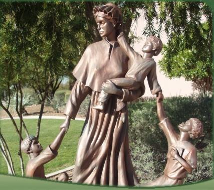 St Elizabeth Ann Seton With Children