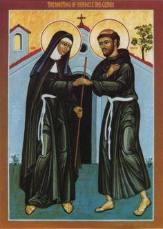Icon depicting St. Francis and St. Clare
