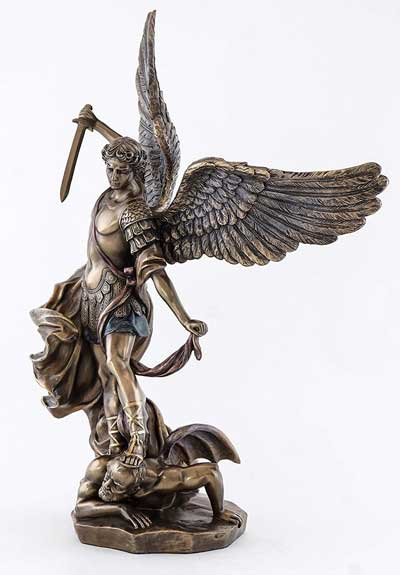 St Michael Bronze Statue