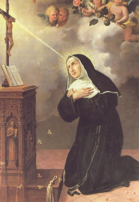 St Rita and the Crucifix
