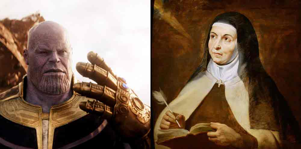 So Is The Avengers Infinity Gauntlet Really The Incorrupt Hand Of St Teresa Of Avila Catholic Saint Medals