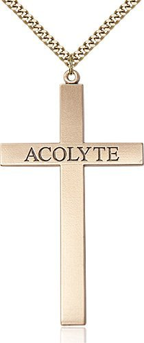 Gold Filled Acolyte Cross Necklace #87840