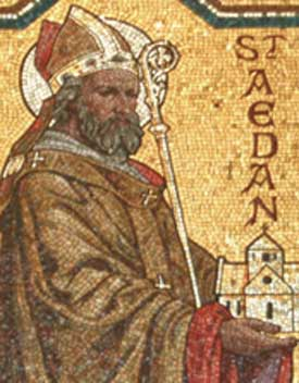 St Aedan of ferns Icon