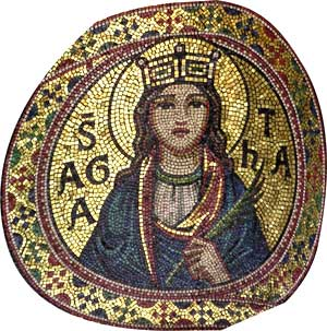 Mosaic of St. Agatha