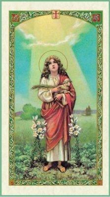 St Agnes Holy Card
