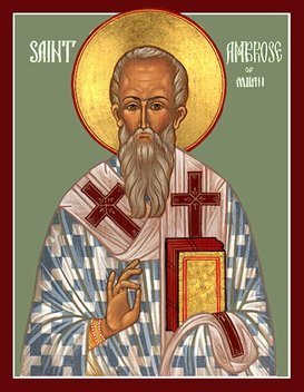 St Ambrose Icon