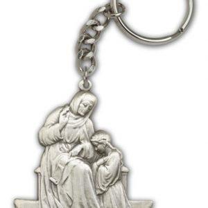 Antique Silver St Ann Keychain