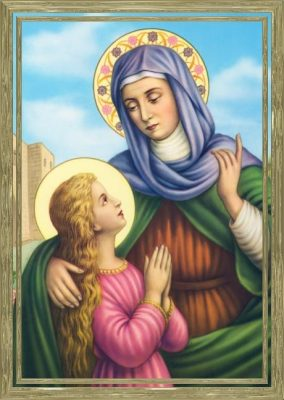 St Anne with a young Mary