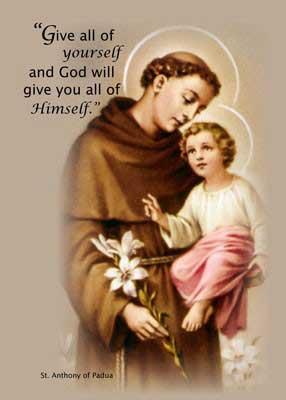 St Anthony Holy Card Image