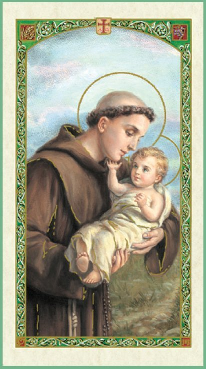 St Anthony of Padua With Child Jesus
