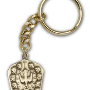 Antique Gold Apostles Keychain