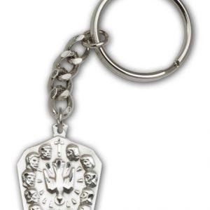 Antique Silver Apostles Keychain