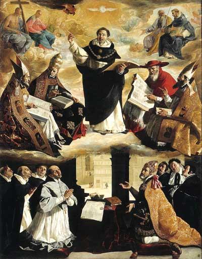 Image of St. Thomas Aquinas teching