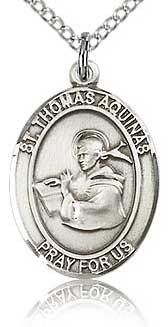 Religious Medal featuring St Thomas Aquinas