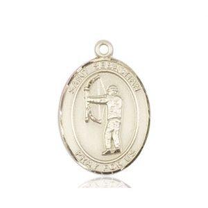 14kt Gold St. Sebastian / Archery Medal