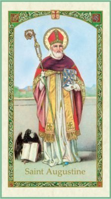 St Augustine of Hippo Holy Card