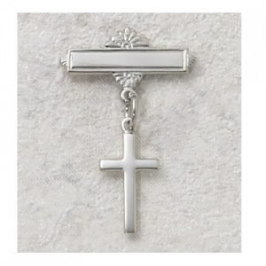 Baby Pin with Sterling Silver Cross