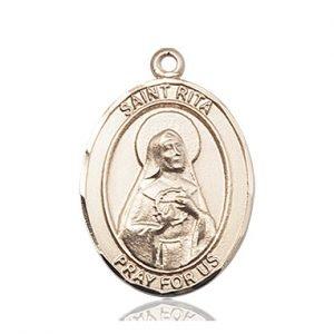14kt Gold St. Rita / Baseball Medal
