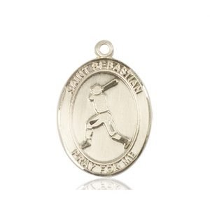 14kt Gold St. Sebastian/Baseball Medal
