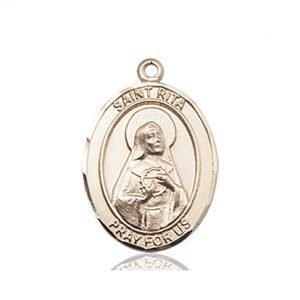 14kt Gold St. Rita of Cascia / Baseball Medal