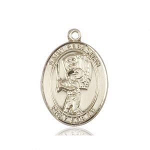 14kt Gold St. Sebastian / Baseball Medal
