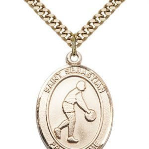 Gold Filled St. Sebastian Pendant