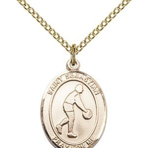 Gold Filled St. Sebastian/Basketball Pendant