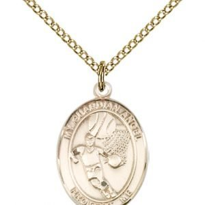 Gold Filled Guardian Angel / Basketball Pendant