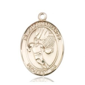 14kt Gold Guardian Angel/Basketball Medal