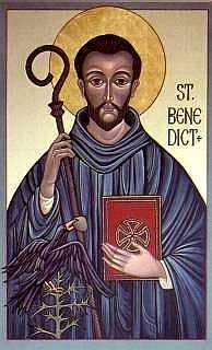 Benedict Icon with Raven