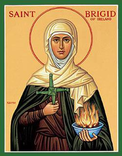 Saint Brigid Icon