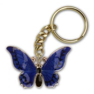 Gold Plate Butterfly Keychain