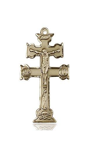 14kt Gold Caravaca Crucifix Medal #88121