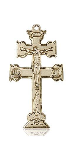 14kt Gold Caravaca Crucifix Medal #88125
