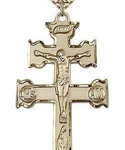 Gold Filled Caravaca Crucifix Necklace #88123