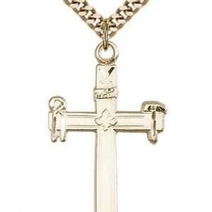 Gold Filled Carpenter Cross Necklace #87495