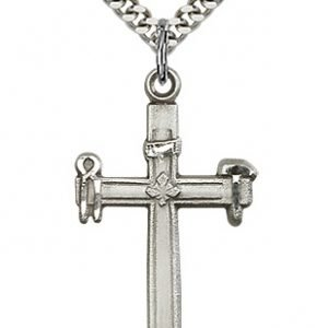 Sterling Silver Carpenter Cross Necklace #87498