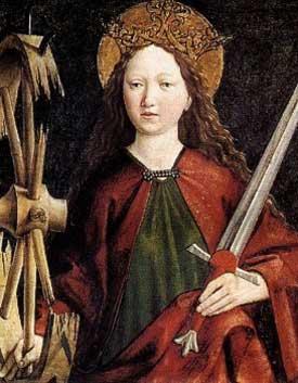 St Catherine of Alexandria Card